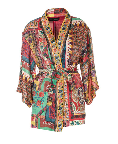 Etro Multi Pattern Belted Jacket