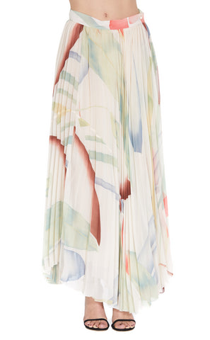 Etro Pleated Printed Skirt