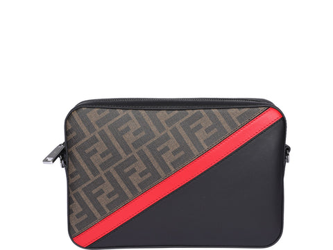 Fendi FF Monogram Diagonal Crossbody Bag