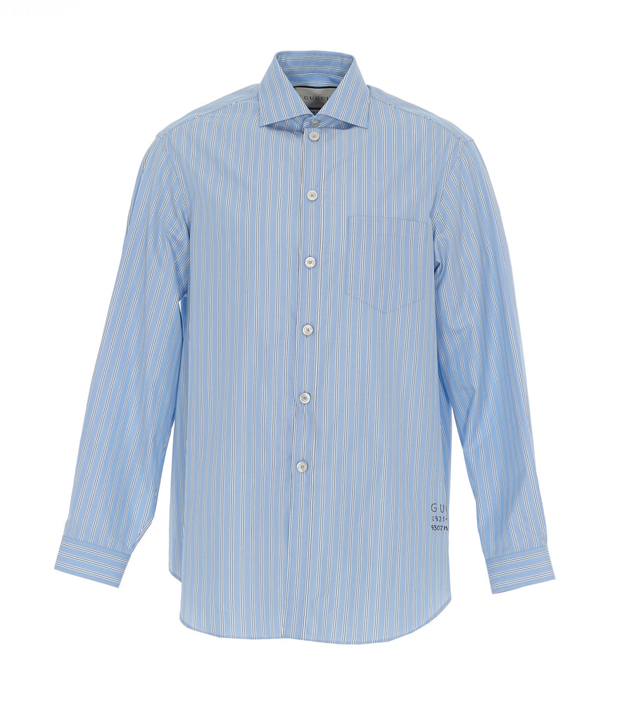 Gucci Striped Embroidered Detail Shirt