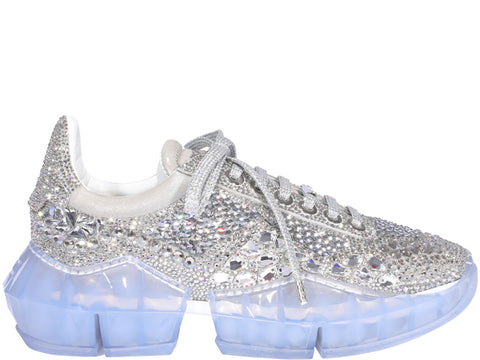 Jimmy Choo Diamond F Crystal Shimmer Sneakers