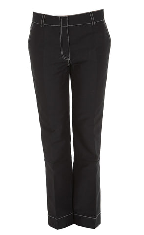 Marni Contrasting Stitch Cropped Trousers