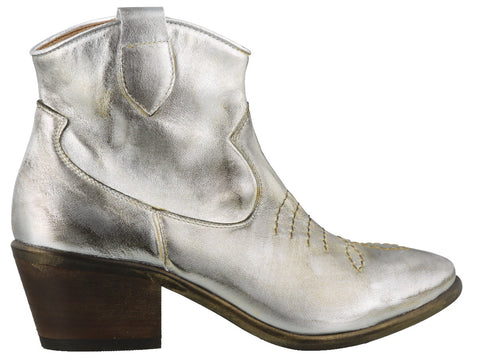 Parisienne Metallic Effect Ankle Boots