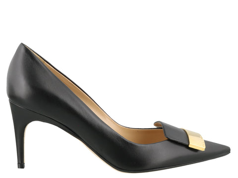 Sergio Rossi Metal Detail Pointed Toe Pumps