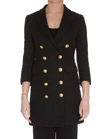 Tagliatore Double Breasted Tweed Coat