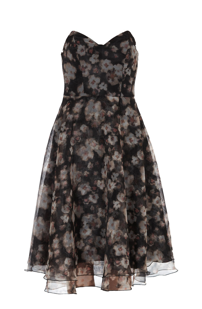 Elisabetta Franchi ELISABETTA FRANCHI FLORAL LAYERED DRESS