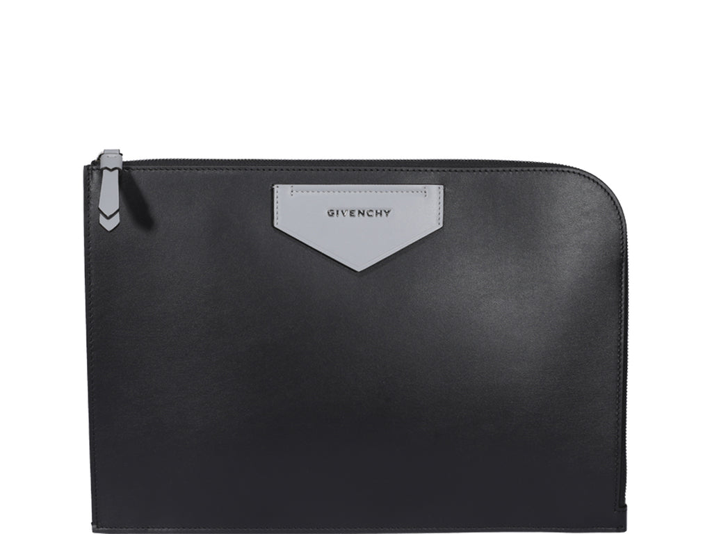 Givenchy Leather Clutch In Black