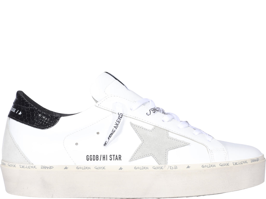 Golden Goose Hi Star Shoes In White