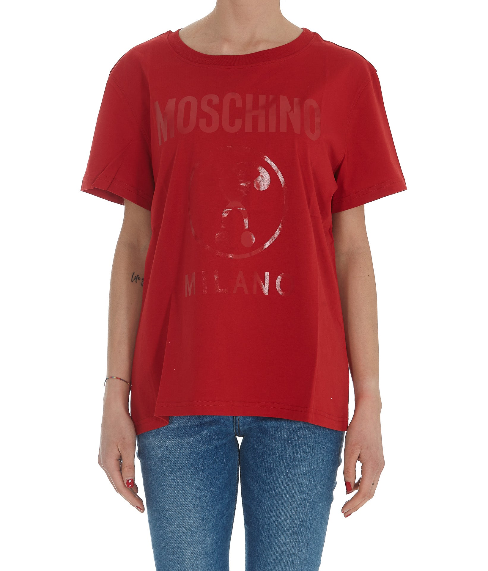 Moschino MOSCHINO DOUBLE QUESTION MARK PRINT T