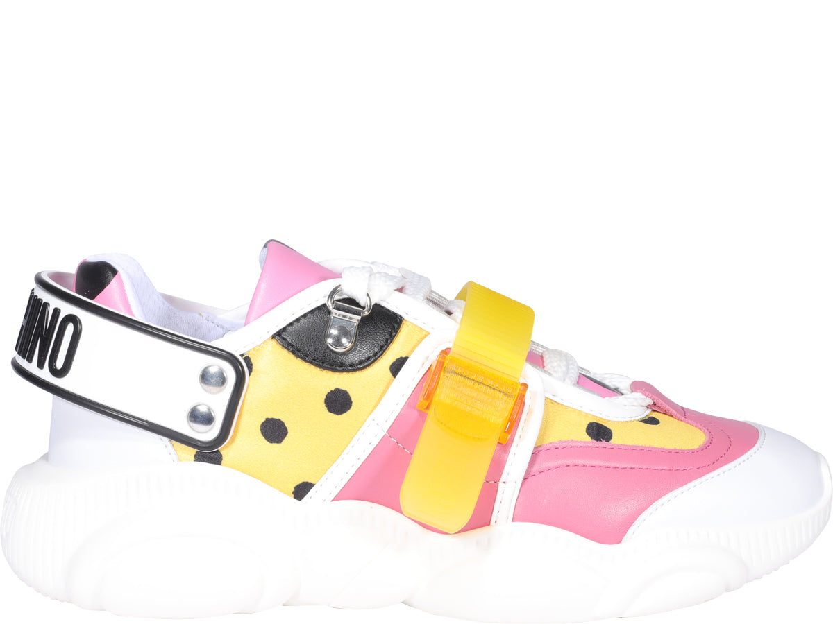 Moschino MOSCHINO ROLLER SKATES TEDDY SNEAKERS
