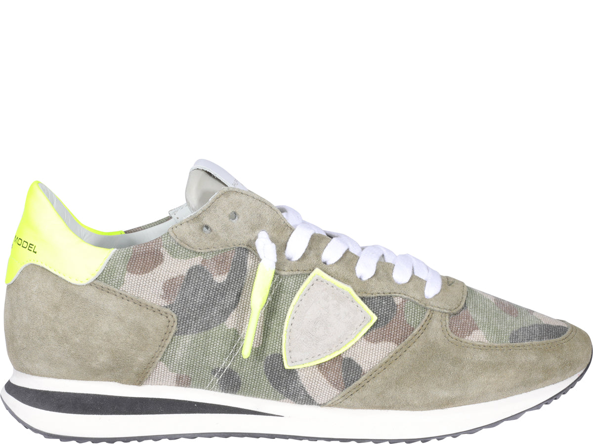 Philippe Model Leathers PHILIPPE MODEL TRPX CAMOUFLAGE SNEAKERS