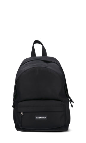 Balenciaga Logo Front Pocket Backpack