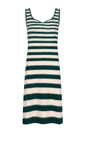 Marni Striped Knitted Midi Dress
