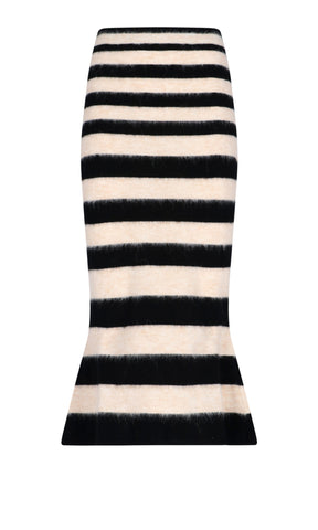 Marni Striped Knitted Midi Skirt