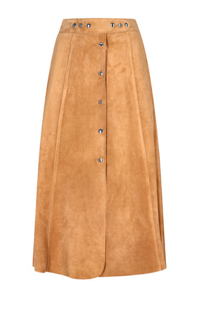 Prada Button-Up A-Line Skirt