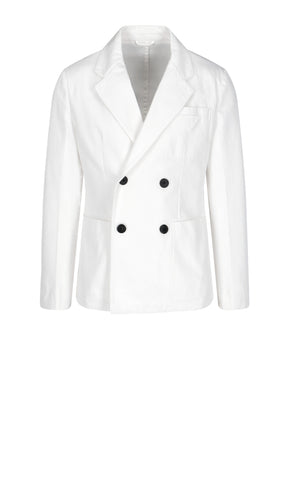 Prada Double-Breasted Triangle Patch Blazer