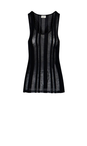 Saint Laurent Sheer Panelled Top