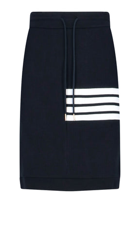 Thom Browne 4-Bar Drawstring Skirt