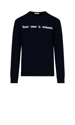 Valentino Your Love Is Infinite Embroidered Jumper
