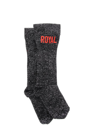 Dolce & Gabbana Royal Embroidered Crew Socks