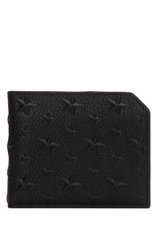 Jimmy Choo Albany EMG Embossed Stars Billfold Wallet