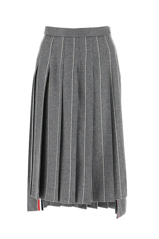 Thom Browne Stripe Motif Pleated Skirt