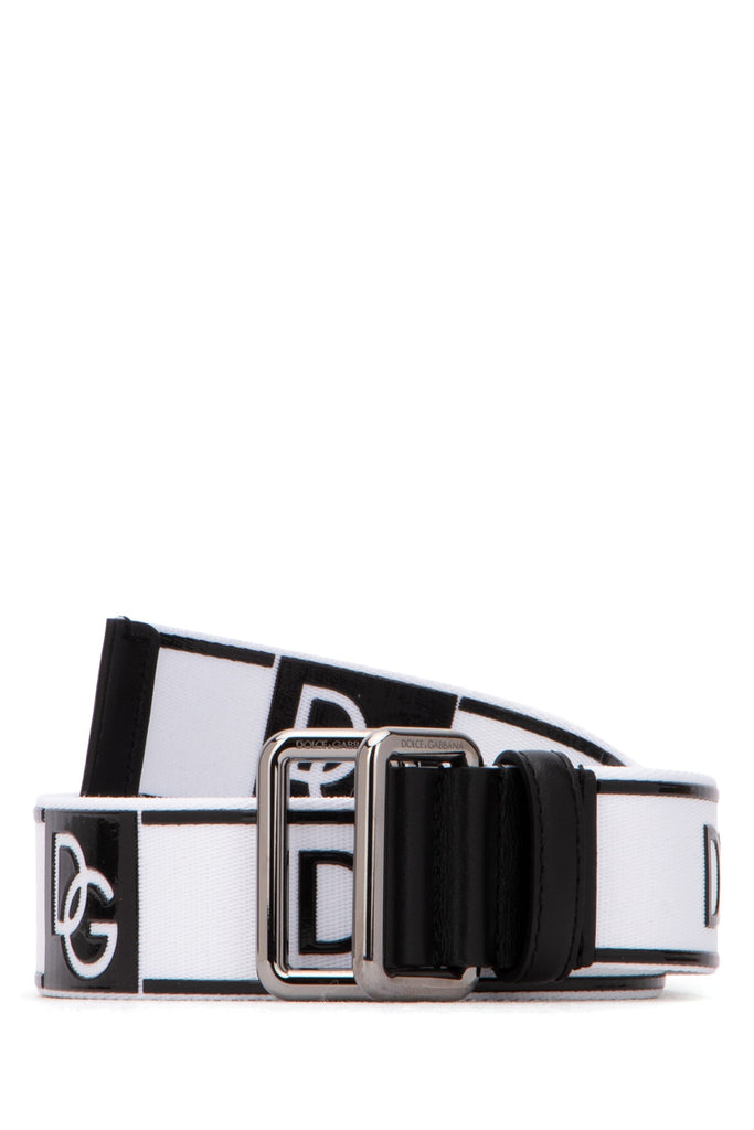Dolce & Gabbana All Over Logo Belt