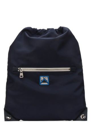 Prada Logo Patch Drawstring Backpack