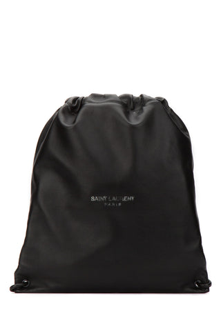 Saint Laurent Logo Drawstring Backpack