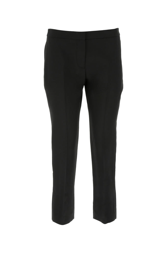 Alexander Mcqueen Cropped Trousers In Black