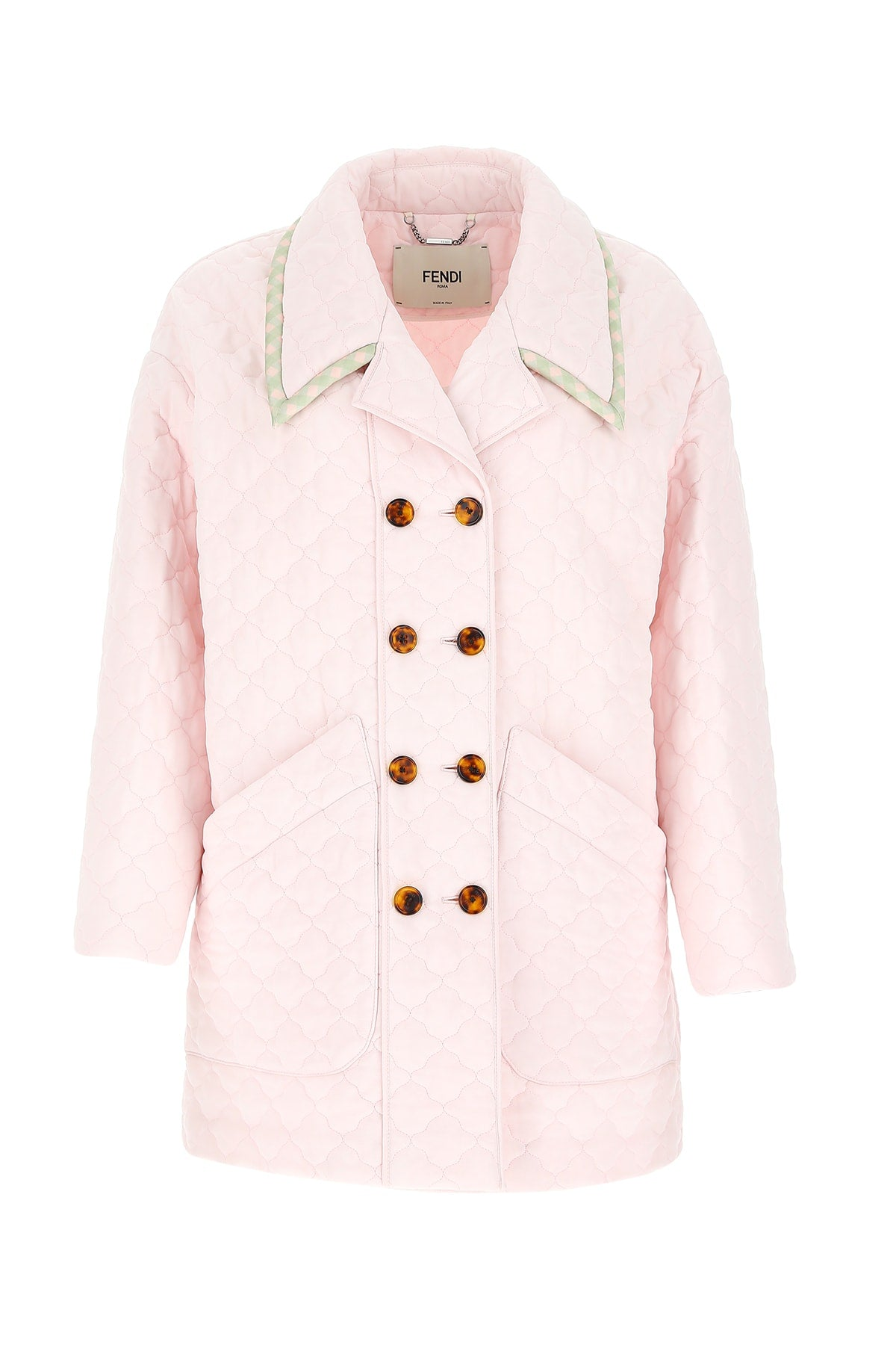 FENDI FENDI DOUBLE BREASTED QUILTED COAT