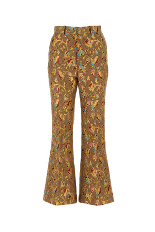 Gucci Floral Pattern Flared Pants