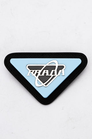 Prada Triangular Logo Brooch
