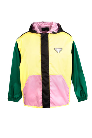 Prada Colour Block Logo Jacket