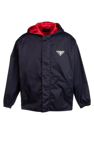Prada Hooded Windbreaker Jacket