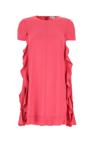Red Valentino Ruffled Sides Dress