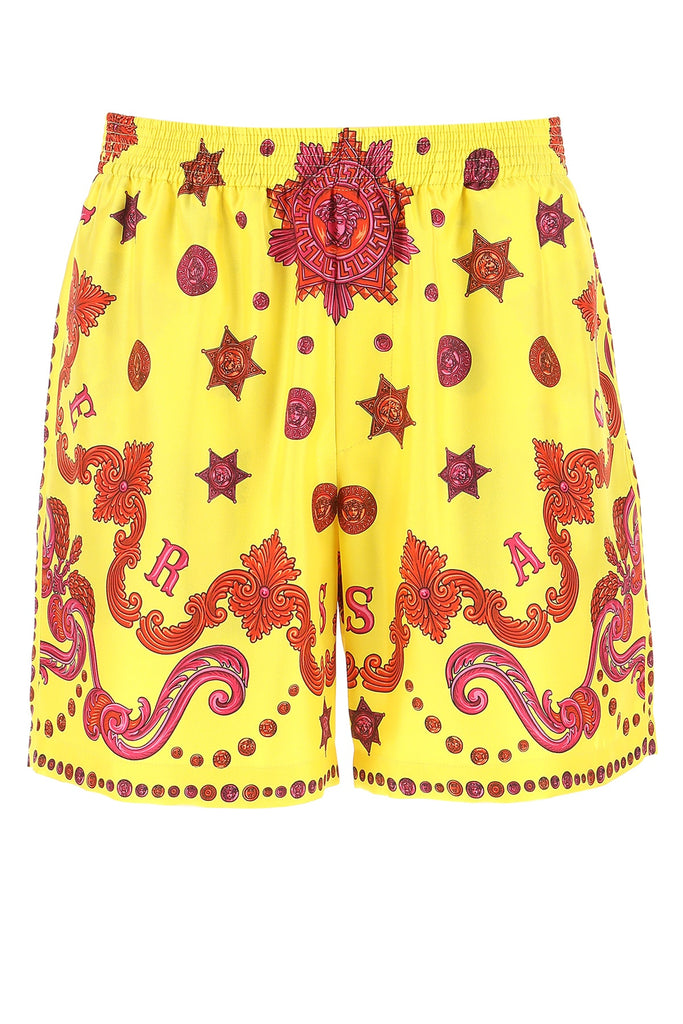 Versace Barocco Western Print Shorts