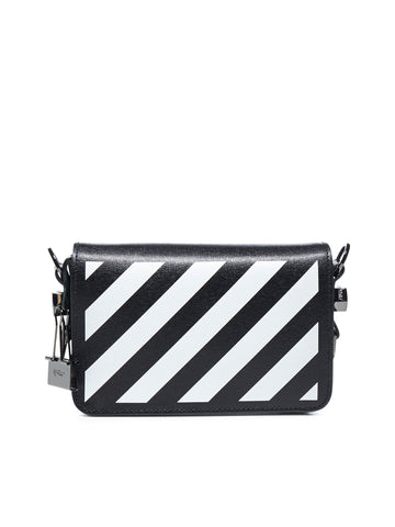 Off-White Mini Diagonal Binder Clip Bag