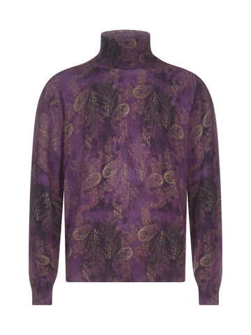 Etro Paisley Print Turtleneck Sweater