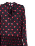 Red Valentino Heart Print Pleated Dress