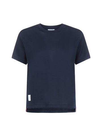 Thom Browne Logo Patch Crewneck T-Shirt
