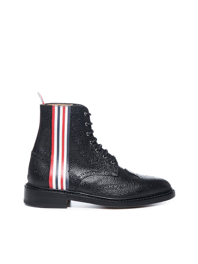 Thom Browne Leathers THOM BROWNE 4 BAR LACE UP BOOTS