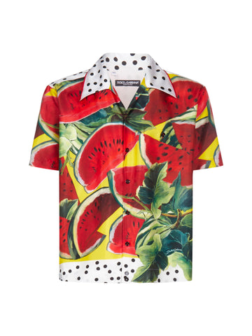 Dolce & Gabbana Watermelon Short-Sleeve Shirt