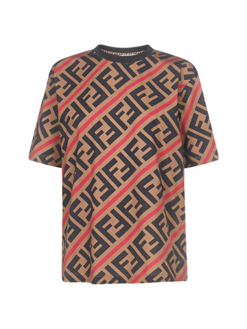 Fendi FF Diagonal Printed T-Shirt