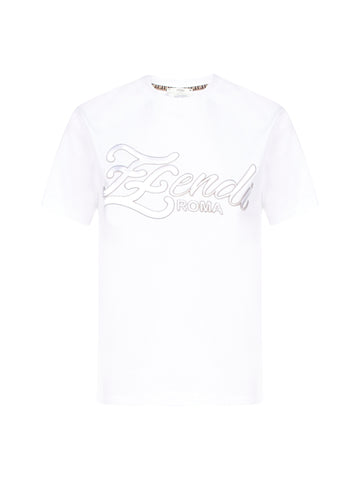 Fendi FF Karligraphy Embroidered T-Shirt
