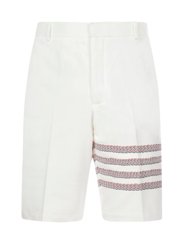 Thom Browne Unconstructed Braided RWB 4-Bar Shorts