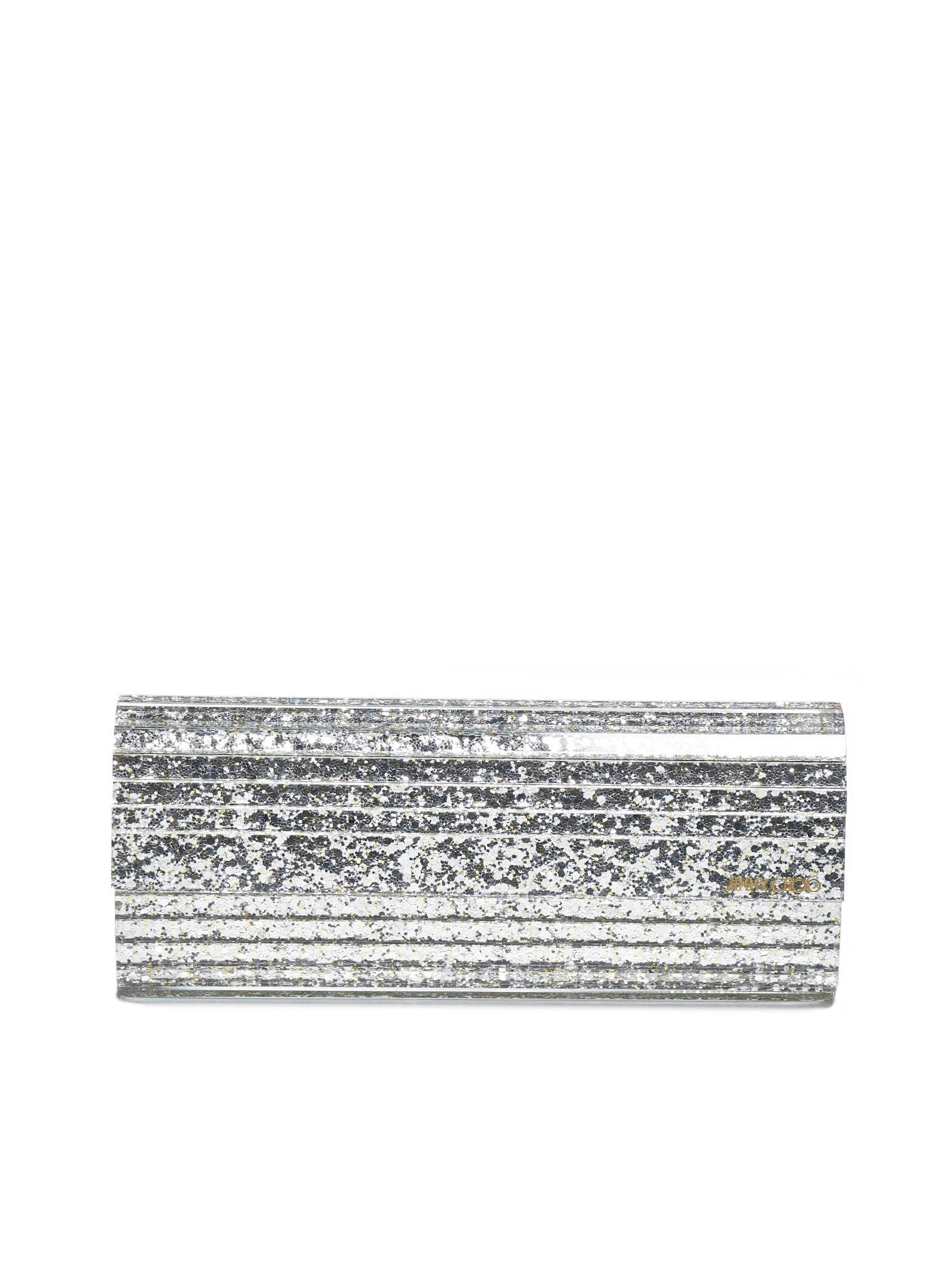 Jimmy Choo Sweetie Glitter Acrylic And Leather Clutch Bag In Multi
