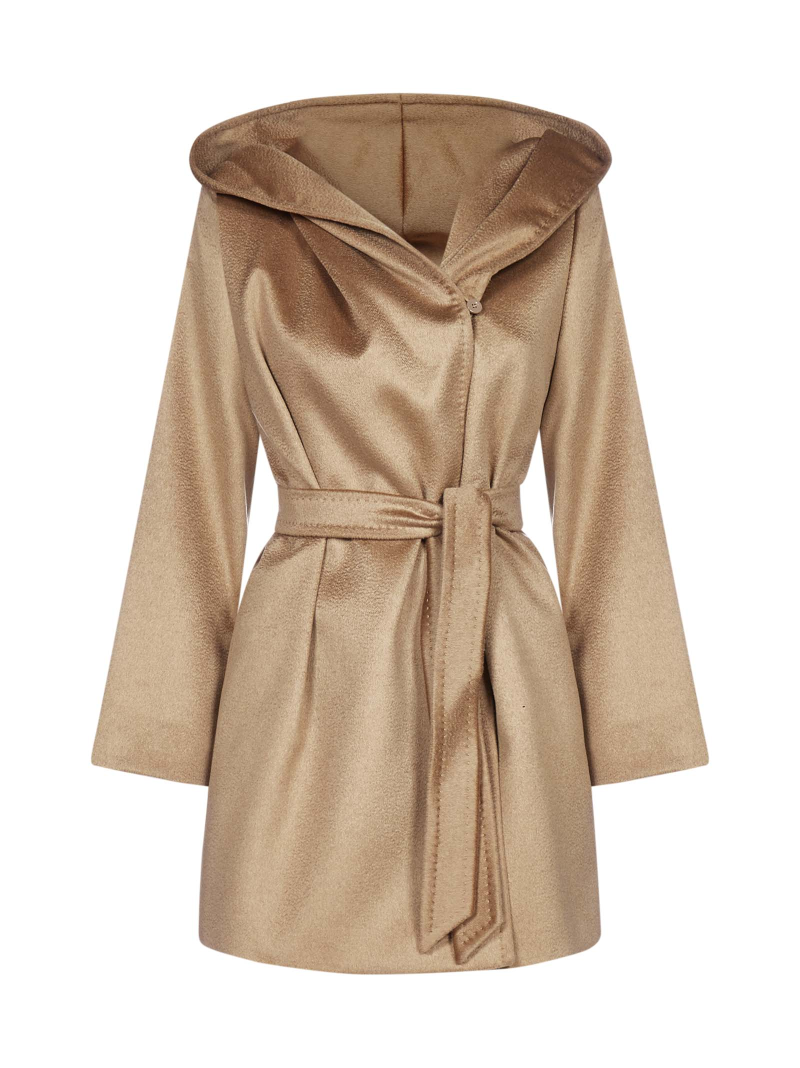 Max Mara MAX MARA STUDIO GAP HOODED BELTED COAT