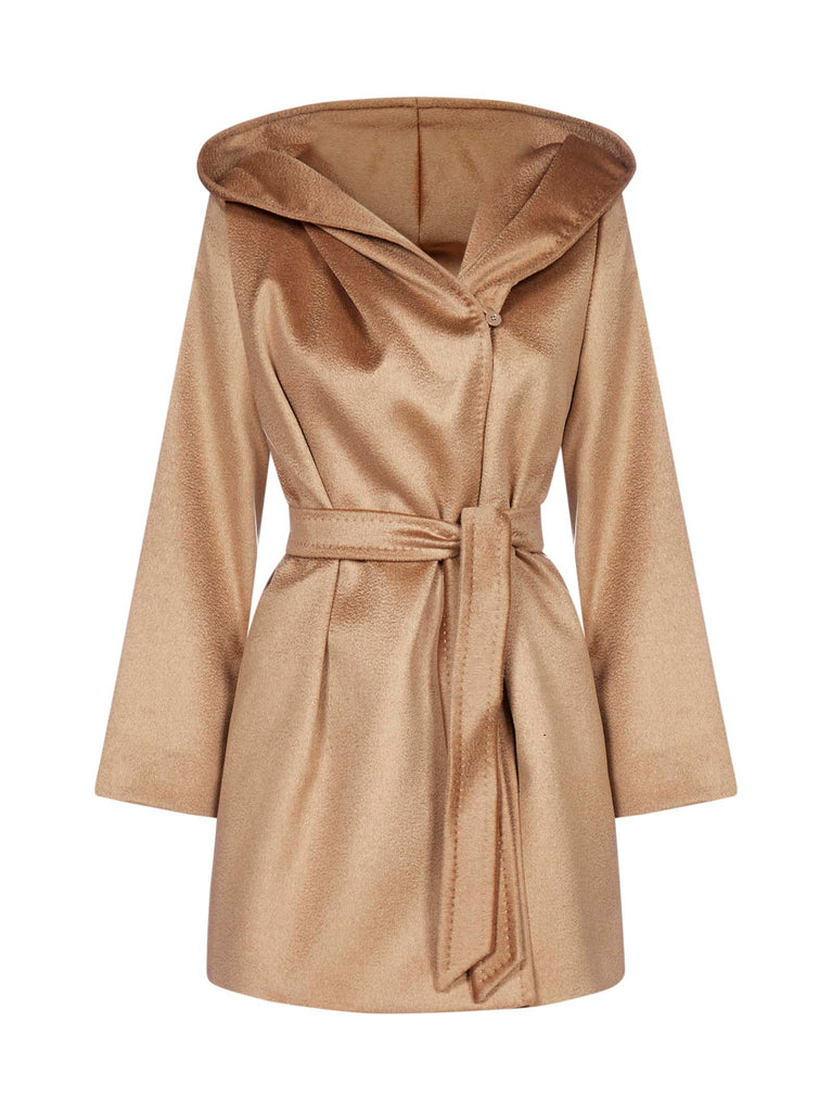 MAX MARA Hoodeds MAX MARA STUDIO GAP HOODED BELTED COAT