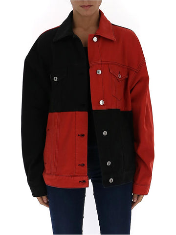 MSGM Checked Denim Jacket